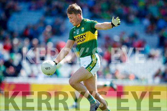 Donnchadh Walsh Kerry in action against  Galway in the All Ireland Senior Football Quarter Final at Croke Park on Sunday.
