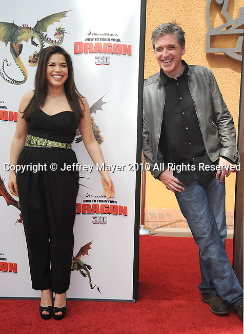 UNIVERSAL CITY, CA. - March 21: America Ferrera and Craig Ferguson arrive at the premiere of ''How To Train Your Dragon'' at Gibson Amphitheater on March 21, 2010 in Universal City, California.