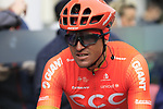 Greg Van Avermaet (BEL) CCC Team at sign on before the 2019 Gent-Wevelgem in Flanders Fields running 252km from Deinze to Wevelgem, Belgium. 31st March 2019.<br /> Picture: Eoin Clarke | Cyclefile<br /> <br /> All photos usage must carry mandatory copyright credit (© Cyclefile | Eoin Clarke)
