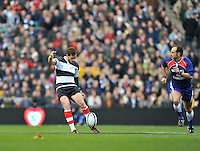 Twickenham, GREAT BRITAIN,  Baa Baa's  Danny CIPRIANI get the  the 2011 Killik Cup Match Barbarians [Baa Baa's] vs Australia, game under way. Played at the RFU Stadium Twickenham, Surrey on Saturday 26/11/2011 [Photo, Peter Spurrier/Intersport-images]