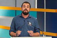 SÃO PAULO, SP, 09.09.2018 - ELEIÇÕES-2018 - O candidato Guilherme Boulos (PSOL) à presidência durante o debate entre candidatos à presidência do Brasil na GAZETA (Fundação Cásper Líbero), neste domingo, 09, em São Paulo. (Foto: Anderson Lira/Brazil Photo Press)