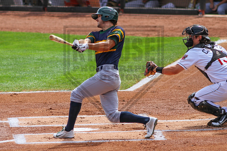 APPLETON - August 2014: Ryan Mathews (1) of the Beloit Snappers during a game against the Wisconsin Timber Rattlers on August 26th, 2014 at Fox Cities Stadium in Appleton, Wisconsin.  (Photo Credit: Brad Krause)