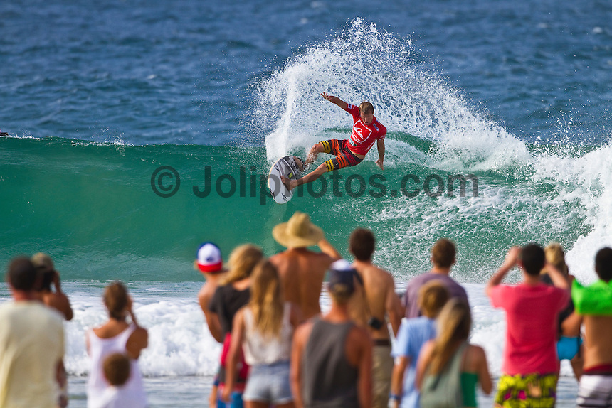 SNAPPER ROCKS, Queensland/Australia (Monday, March 6, 2011) - The world's best surfers lit up the three-to-four foot (1.5 metre) swell on offer at Snapper Rocks today as the Quiksilver Pro Gold Coast  completed Round 3 of competition.. .The Quiksilver Pro Gold Coast saw conditions improve for today's Round 3, with the best performances of the event being logged by the ASP Top 34.. .Jordy Smith (ZAF), 23, 2010 ASP World Runner-Up, put in the performance of the day, posting a 17.17 out of a possible 20 for an unmatched affinity with the barrel, massive turns and aerials. The high-fi exhibition was enough to eliminate replacement surfer Cory Lopez (USA).. Finishing Runner-Up at this event last season as well as in the hunt for the ASP World Title, the big South African is confident in his abilities and mind frame in 2011. .Smith will face Brett Simpson (USA), 26, and Adriano de Souza (BRA), 24, when competition resumes.. Matt Wilkinson (AUS), 22, into his sophomore year amongst the ASP Top 34, put on an electric performance in Round 3 today. The progressive goofy-footer blasted away at the bowly righthanders, netting a 9.27 out of a possible 10 for one of the highest single-wave scores of the day. The performance included at nearly-completed rodeo flip that had the tens of thousands in attendance on the feet..Photo: joliphotos.com