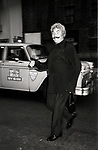 Rip Taylor leaving a Broadway Show on July 27, 1982  in New York City.
