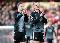 Burnley's Matej Vydra applauds the fans at the final whistle <br /> <br /> Photographer David Shipman/CameraSport<br /> <br /> The Premier League - Arsenal v Burnley - Saturday 22nd December 2018 - The Emirates - London<br /> <br /> World Copyright © 2018 CameraSport. All rights reserved. 43 Linden Ave. Countesthorpe. Leicester. England. LE8 5PG - Tel: +44 (0) 116 277 4147 - admin@camerasport.com - www.camerasport.com