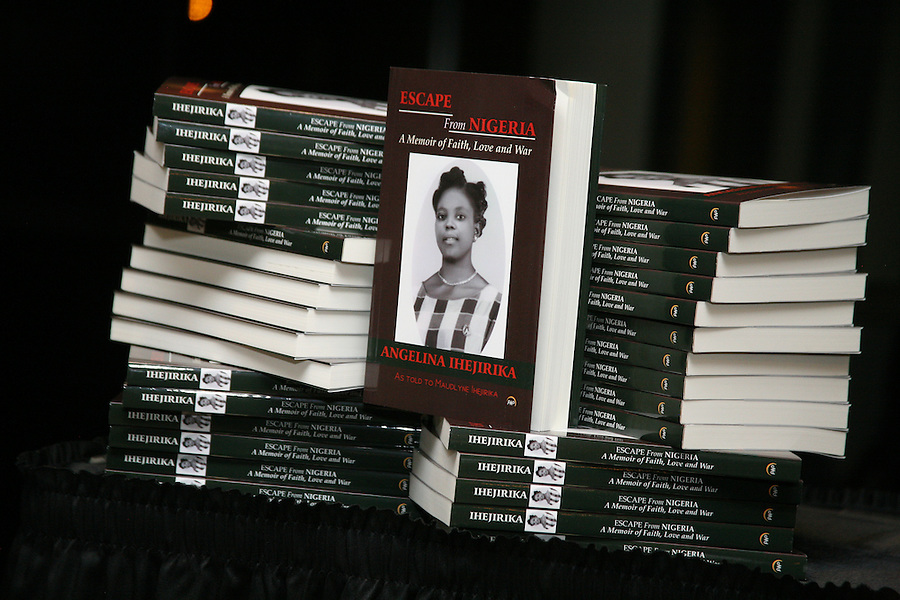 Go, Angelina! The Ihejirika family celebrated their mother's birthday and the release of her book, 17 years in the making, at the DuSable, May 14, 2016.  [Photo by Karen Kring]