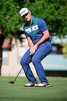 Jon Rahm (ESP) reacts to missing his putt on 14 during the round 1 of the Dean &amp; Deluca Invitational, at The Colonial, Ft. Worth, Texas, USA. 5/25/2017.<br /> Picture: Golffile | Ken Murray<br /> <br /> <br /> All photo usage must carry mandatory copyright credit (&copy; Golffile | Ken Murray)