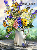 Dona Gelsinger, FLOWERS, BLUMEN, FLORES,butterflies, paintings+++++,USGE1920,#f#, EVERYDAY
