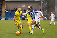 Kane Vincent Young of Colchester United gets behind the visitors defence during Colchester United vs Cheltenham Town, Sky Bet EFL League 2 Football at the Weston Homes Community Stadium on 6th January 2018