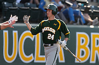 Michael Howard #24 of the Baylor Bears during a game against the UCLA Bruins at Jackie Robinson Stadium on February 25, 2012 in Los Angeles,California. UCLA defeated Baylor 9-3.(Larry Goren/Four Seam Images)