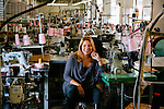 American Apparel CEO Paula Schneider poses for a portrait at the company's headquarters, which houses the factory in which the apparel is made, as well as offices, and a store, in Los Angeles, California February 6, 2015.