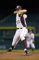Starting pitcher Barret Loux #50 of the Texas A&M Aggies in action versus the Houston Cougars in the 2009 Houston College Classic at Minute Maid Park March 1, 2009 in Houston, TX.  The Aggies defeated the Cougars 5-3. (Photo by Brian Westerholt / Four Seam Images)