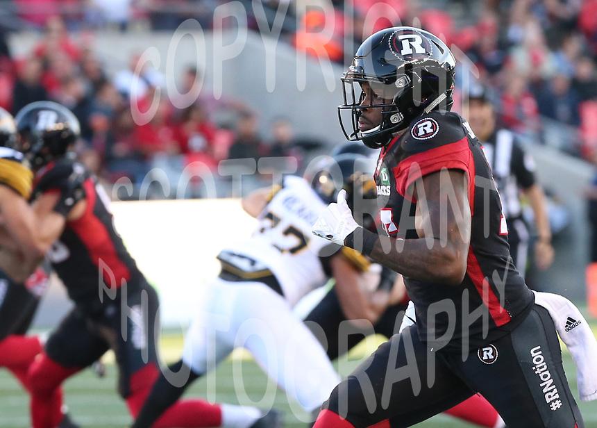 Keelan Johnson-Ottawa RedBlacks-9sept2017: Photo: Scott Grant