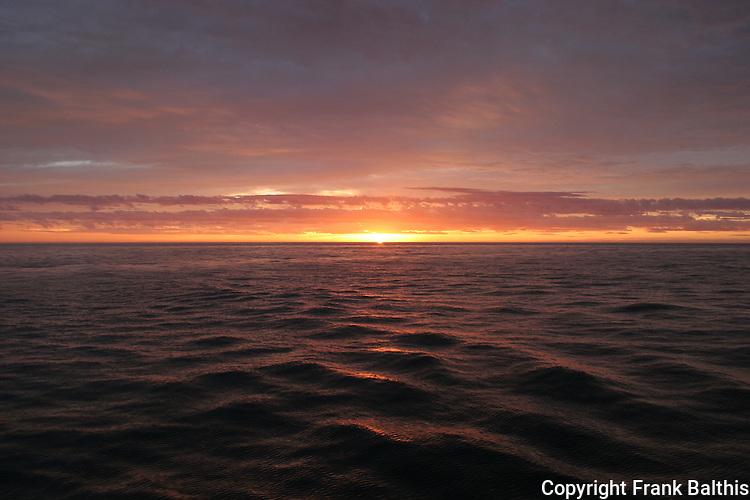 Sunrise in Gulf of California