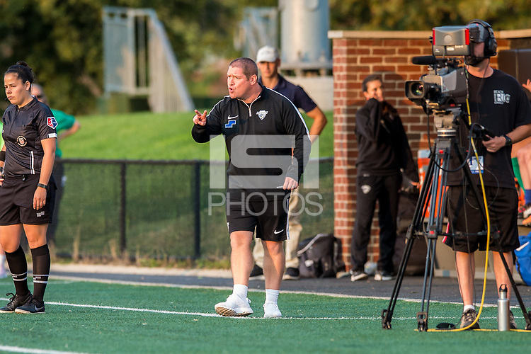 Boston, MA - Sunday September 10, 2017: Matt Beard, Head Coach during a regular season National Women's Soccer League (NWSL) match between the Boston Breakers and Portland Thorns FC at Jordan Field.