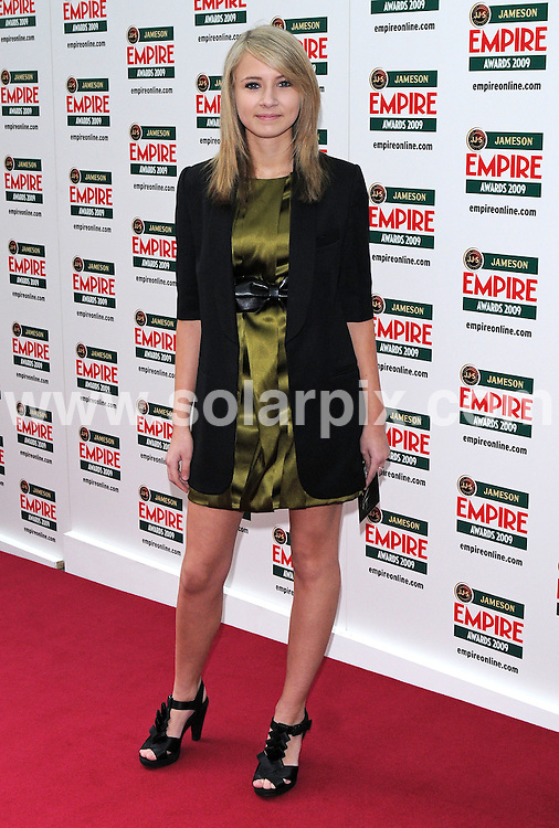 **ALL ROUND PICTURES FROM SOLARPIX.COM**.**WORLDWIDE SYNDICATION RIGHTS**.arrivals for The Empire Film Awards, Grosvenor House Hotel, London, UK. 29 March 2009..This pic: Eliza Bennett..JOB REF:  8740 SSD     DATE: 29_03_2009.**MUST CREDIT SOLARPIX.COM OR DOUBLE FEE WILL BE CHARGED**.**ONLINE USAGE FEE GBP 50.00 PER PICTURE - NOTIFICATION OF USAGE TO PHOTO @ SOLARPIX.COM**.**CALL SOLARPIX : +34 952 811 768 or LOW RATE FROM UK 0844 617 7637**