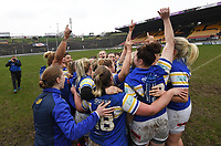 Picture by Anna Gowthorpe/SWpix.com - 15/04/2018 - Rugby League - Womens Super League - Bradford Bulls v Leeds Rhinos - Coral Windows Stadium, Bradford, England - Leeds Rhinos celebrate victory