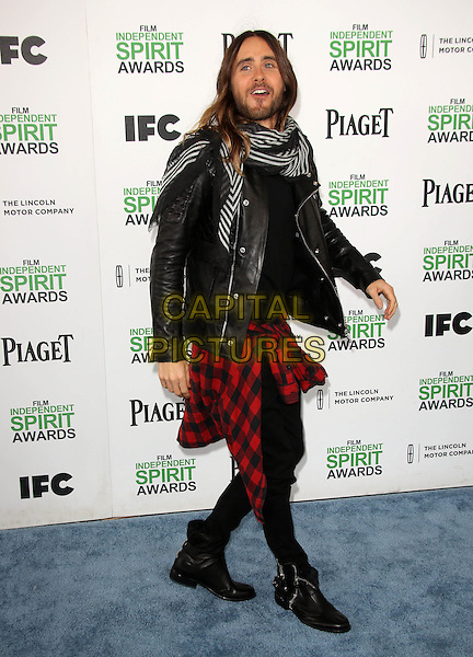 SANTA MONICA, CA - March 01: Jared Leto at the 2014 Film Independent Spirit Awards Arrivals, Santa Monica Beach, Santa Monica,  March 01, 2014. Credit: Janice Ogata/MediaPunch<br /> CAP/MPI/JO<br /> &copy;JO/MPI/Capital Pictures