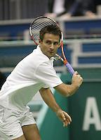 21-2-06, Netherlands, tennis, Rotterdam, ABNAMROWTT,  Santoro in his match against Mathieu