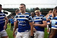 Zach Mercer of Bath Rugby looks on after the match. Gallagher Premiership match, between Leicester Tigers and Bath Rugby on May 18, 2019 at Welford Road in Leicester, England. Photo by: Patrick Khachfe / Onside Images
