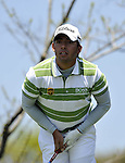 JEJU, SOUTH KOREA - APRIL 24:  Pablo Larrazabal of Spain tees off on the 12th hole during the Round Two of the Ballantine's Championship at Pinx Golf Club on April 24, 2010 in Jeju island, South Korea. Photo by Victor Fraile / The Power of Sport Images
