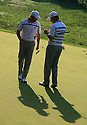 SERGIO GARCIA and LEE WESTWOOD of the European Ryder Cup Team during the friday morning foursomes of the 37th Ryder Cup Matches, September 16 -21, 2008 played at Valhalla Golf Club, Louisville, Kentucky, USA ( Picture by Phil Inglis ).... ......