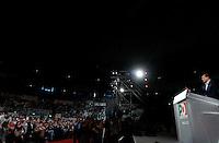 Il segretario del Partito Democratico Pierluigi Bersani chiude la manifestazione contro la manovra economica del governo al Palalottomatica, Roma, 19 giugno 2010..Center-left Democratic Party's secretary Pierluigi Bersani speaks during the rally in Rome, 19 june 2010, against government's plan in spending cuts..UPDATE IMAGES PRESS/Riccardo De Luca