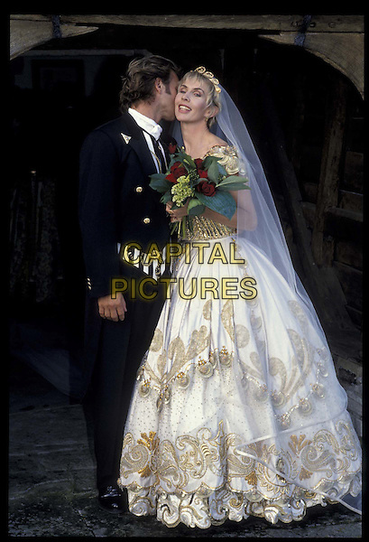 STING &TRUDI STYLER.Ref: 007.wedding, married, full length, full-length.*RAW SCAN- photo will be adjusted for publication*.www.capitalpictures.com.sales@capitalpictures.com.©Capital Pictures
