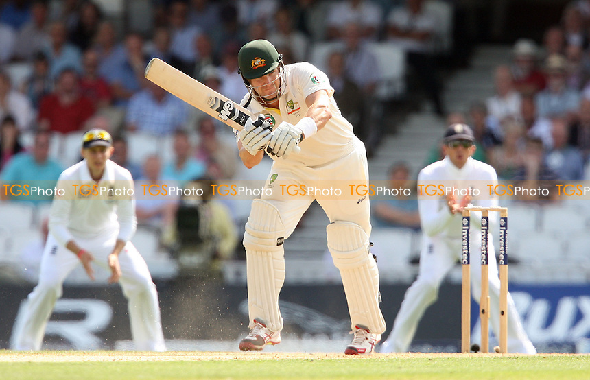 Shane Watson of Australia in batting action - England vs Australia - 1st day of the 5th Investec Ashes Test match at The Kia Oval, London - 21/08/13 - MANDATORY CREDIT: Rob Newell/TGSPHOTO - Self billing applies where appropriate - 0845 094 6026 - contact@tgsphoto.co.uk - NO UNPAID USE