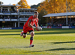 Caption correction Imanol Harinordoquy runs in unopposed to score the second try of the game for Toulouse - European Rugby Champions Cup - Bath Rugby vs Toulouse - Recreation Ground Bath - Season 2014/15 - October 25th 2014 - <br /> Photo Malcolm Couzens/Sportimage