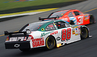 14 September 2008--Dale Earnhardt Jr. and Jeff Burton battle for position during the Sylvania 300 at New Hampshire Motor Speedway in Loudon, NH.  (Brian Cleary/BCPix.com)