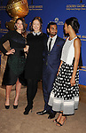 BEVERLY HILLS, CA- DECEMBER 12: (L-R) Actors Sosie Bacon, Olivia Wilde, Aziz Ansari and Zoe Saldana attend the 71st Golden Globe Awards Nominations Announcement at The Beverly Hilton Hotel on December 12, 2013 in Beverly Hills, California.