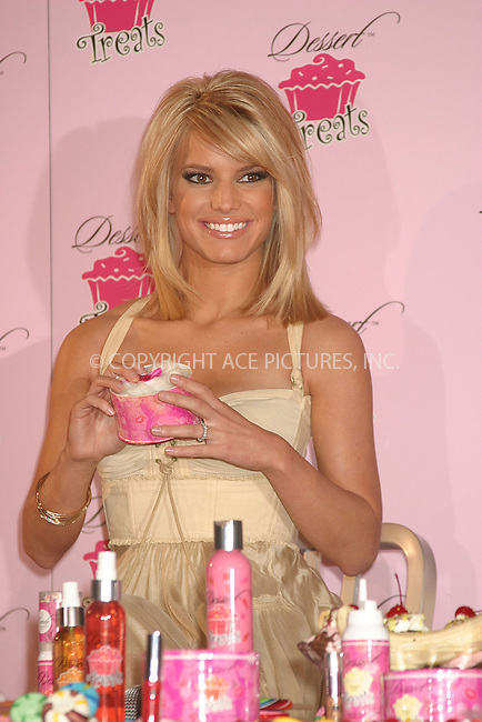 "WWW.ACEPIXS.COM . . . . . ....NEW YORK, FEBRUARY 9, 2005 ....Jessica Simpson at the unveiling of her new fragrance and body care line ""Dessert Treats."" ....Please byline: ACE009 - ACE PICTURES.. . . . . . ..Ace Pictures, Inc:  ..Philip Vaughan (646) 769-0430..e-mail: info@acepixs.com..web: http://www.acepixs.com"