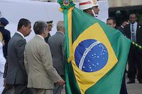 RIO DE JANEIRO, RJ, 08 DE MAIO DE 2013 - DIA DA VITORIA - O Ministro da Defesa Celso Amorim,   durante cerimonia do Dia da Vitoria, no Aterro do Flamengo, na zona sul da cidade do Rio de Janeiro, nesta quarta-feira, 08. FOTO. INGRID CRISTINA / BRAZIL PHOTO PRESS.