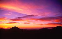 Sunset Over the Mt. Margaret Backcountry, Mt. St. Helens National Volcanic Monument, Washington, US