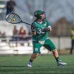 30 March 2016: Manhattan College Jasper Goalkeeper Nikki Prestiano, a Freshman from Cortlandt Manor, NY, in action against the University of Vermont Catamounts at Virtue Field in Burlington, Vermont. The Lady Cats defeated the Jaspers 11-5 in non-conference play. Mandatory Credit: Ed Wolfstein Photo *** RAW (NEF) Image File Available ***