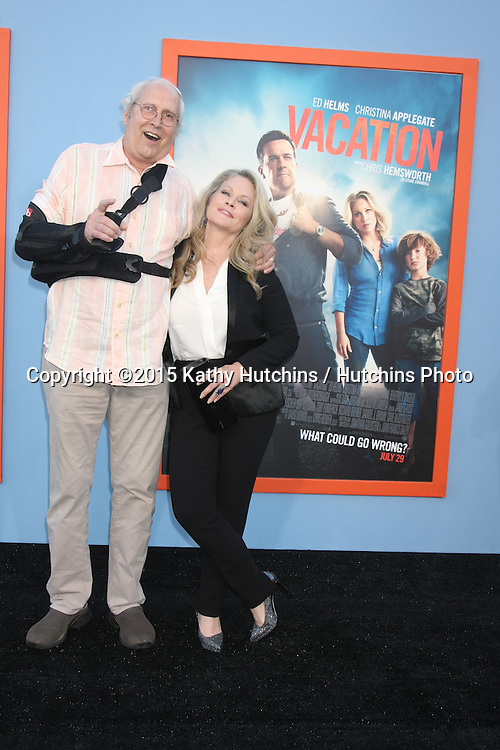 """LOS ANGELES - JUL 27:  Chevy Chase, Beverly D'Angelo at the """"Vacation"""" Premiere at the Village Theater on July 27, 2015 in Westwood, CA"""