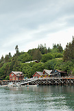 ALASKA, Homer, the Saltry restaurant at Halibut Cove