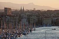 Europe/France/Provence-Alpes-Côte d'Azur/13/Bouches-du-Rhone/Marseille: Le Vieux Port à l'aube