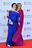 Fiona Shaw and Jodie Comer<br /> at Virgin Media British Academy Television Awards 2019 annual awards ceremony to celebrate the best of British TV, at Royal Festival Hall, London, England on May 12, 2019.<br /> CAP/JOR<br /> &copy;JOR/Capital Pictures