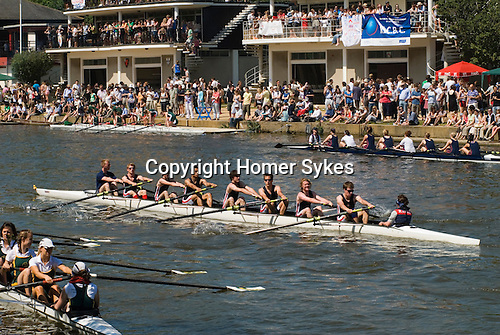 "Students. Oxford University Rowing Clubs Eights Week. Rowing races on the River Isis Oxford. (actually the River Thames). Summer Eights is a ""bumps race"" intercollegiate rowing regatta takes place end of May in Trinity Term."
