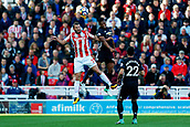 9th September 2017, bet365 Stadium, Stoke-on-Trent, England; EPL Premier League football, Stoke City versus Manchester United; Erik Pieters of Stoke City wins the ball in the air