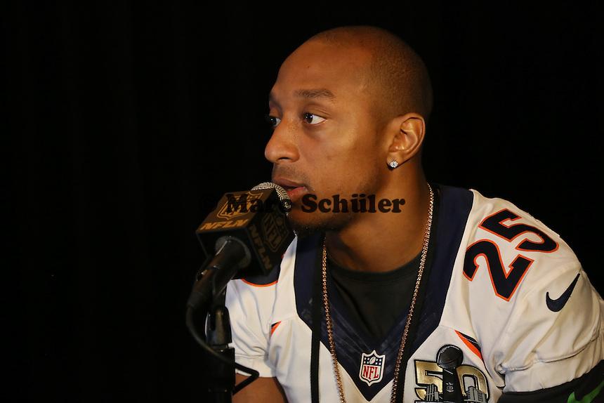 CB Chris Harris Jr. (Broncos) - Super Bowl 50 Denver Broncos PK, Marriott Santa Clara