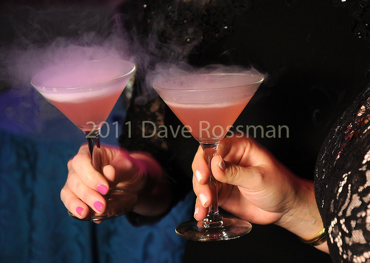 Smoking cocktails at the Big Bang Ball at the Houston Museum of Natural Science Saturday March  04,2017. (Dave Rossman Photo)