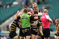 Cornwall players celebrate at the final whistle. Bill Beaumont County Championship Division 1 Final between Cheshire and Cornwall on June 2, 2019 at Twickenham Stadium in London, England. Photo by: Patrick Khachfe / Onside Images
