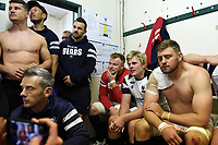 Bristol Bears players look on in the changing rooms after the match. Gallagher Premiership match, between Leicester Tigers and Bristol Bears on April 27, 2019 at Welford Road in Leicester, England. Photo by: Patrick Khachfe / JMP
