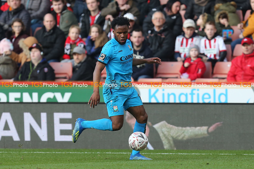 Shaquile Coulthirst of Barnet during Sheffield United vs Barnet, Emirates FA Cup Football at Bramall Lane on 6th January 2019