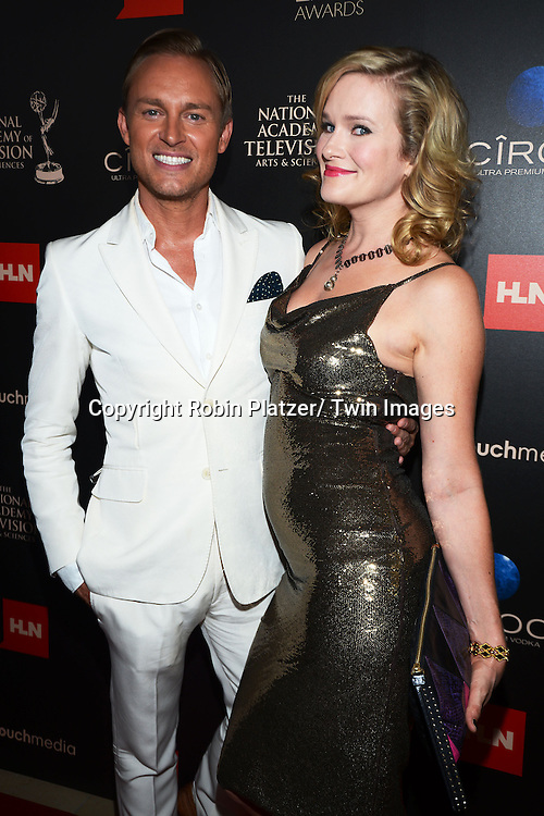 Nicholle Tom and Robbie Laughlin attends The 40th Annual Daytime Emmy Awards on<br />  June 16, 2013 at the Beverly Hilton Hotel in Beverly Hills, California.