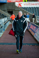 Swansea Caretaker Manager, Alan Curtis  arrives at the Liberty Stadium prior to the Barclays Premier League match between Swansea City and West Ham United played at the Liberty Stadium, Swansea  on December 20th 2015