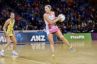 Thunderbirds' Khao Watts in action during the ANZ Championship - Central Pulse v Adelaide Thunderbirds at Te Rauparaha Arena, Porirua, New Zealand on Sunday 12 June 2016. <br /> Photo by Masanori Udagawa. <br /> www.photowellington.photoshelter.com.